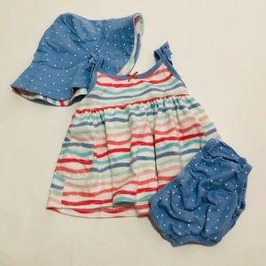 🌻3/20$ Gerber Organic Dress 3-6 Months